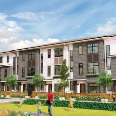 Design photo of Surrey new townhome community - Wood & Water