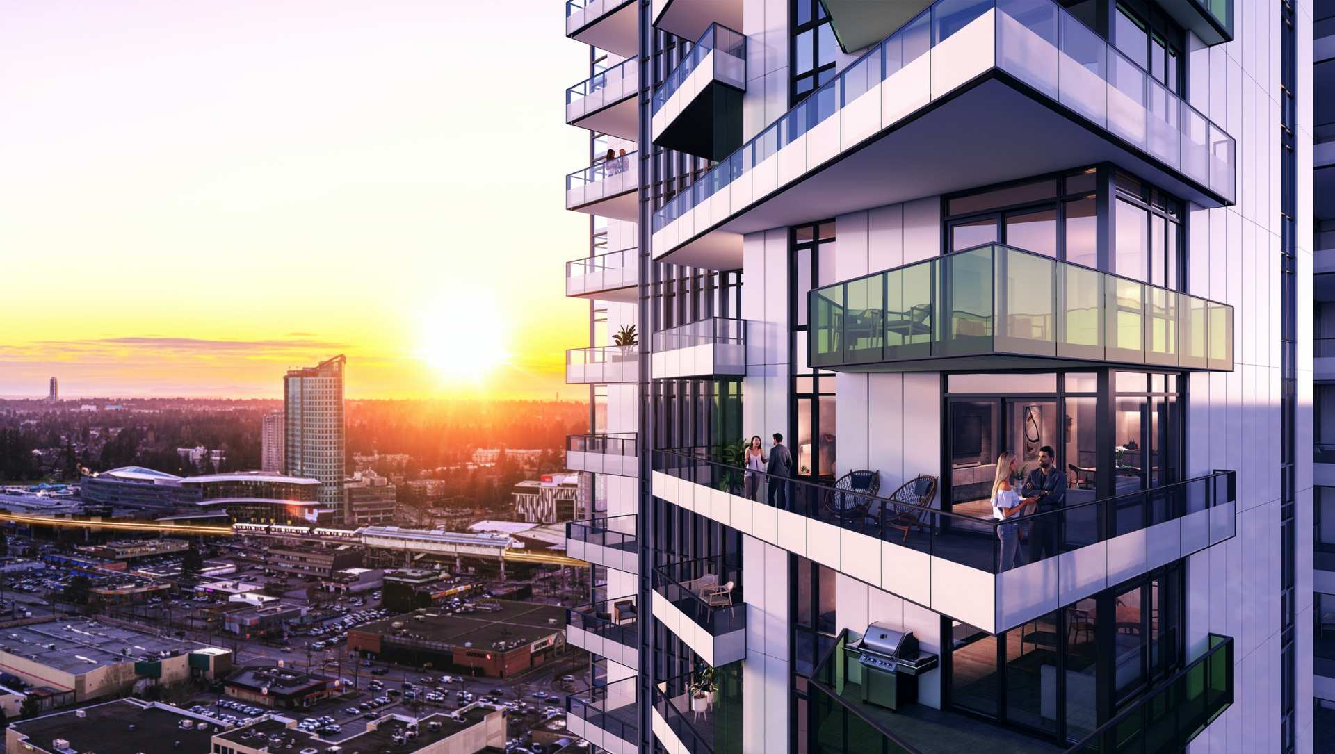 Rendering Of Ascent High-rise In Surrey