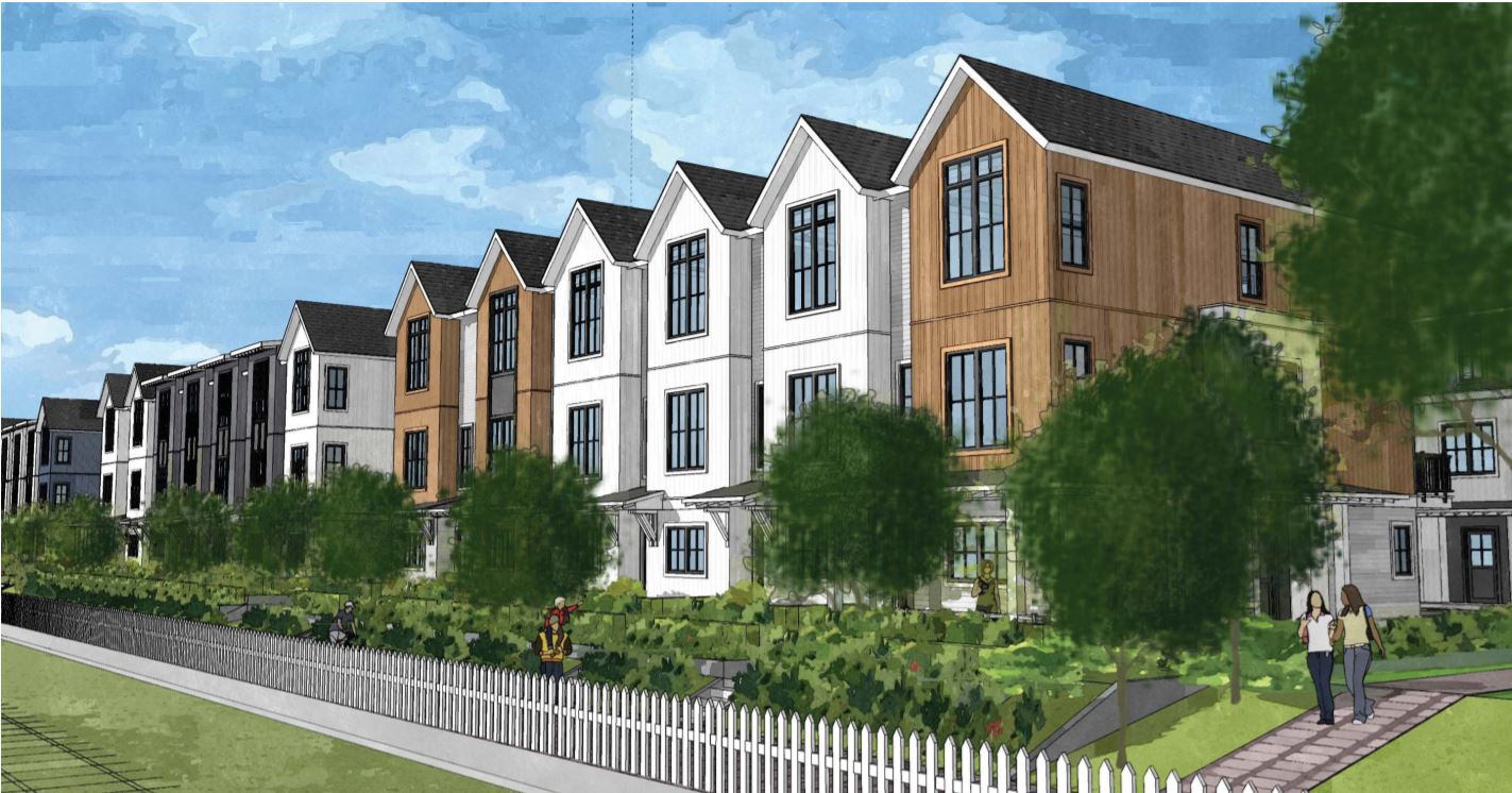 Rendering Of Portside New Development In Downtown New Westminster