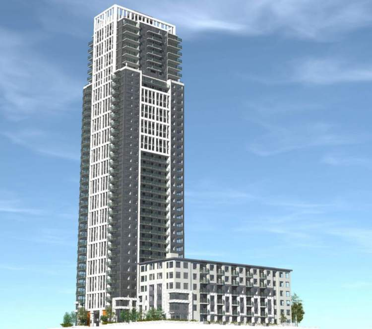 Rendering of Telford new condos at Metrotown