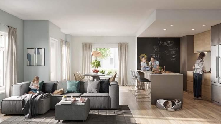 Heron Steveston rendering of living room