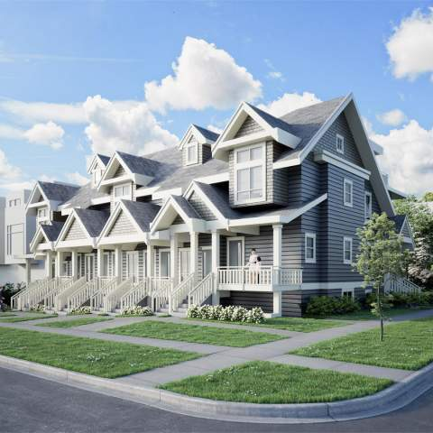 Rendering Of Chambers Townhomes & Condos In East Vancouver
