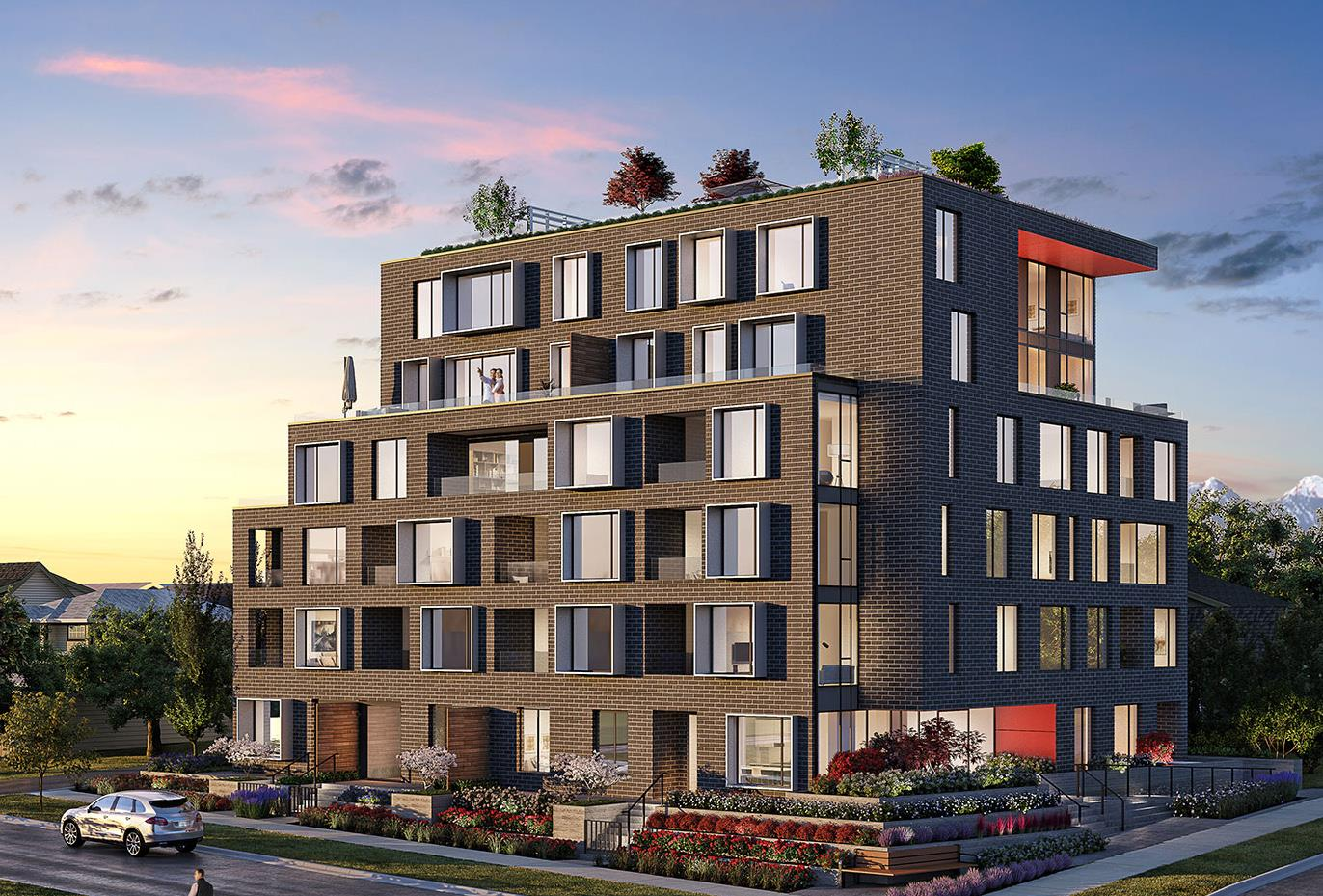 Rendering Of Front Building For SOMA On Cambie