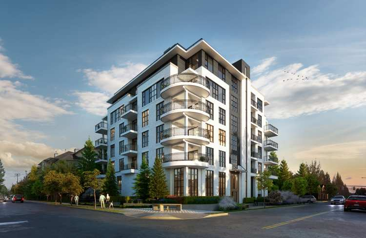 Rendering of One Shaughnessy building in Port Coquitlam