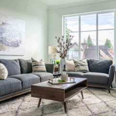 Rendering of Chalet Living Room in Delta BC