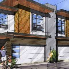 Drawing of Georgia Townhomes in Steveston by Anthem