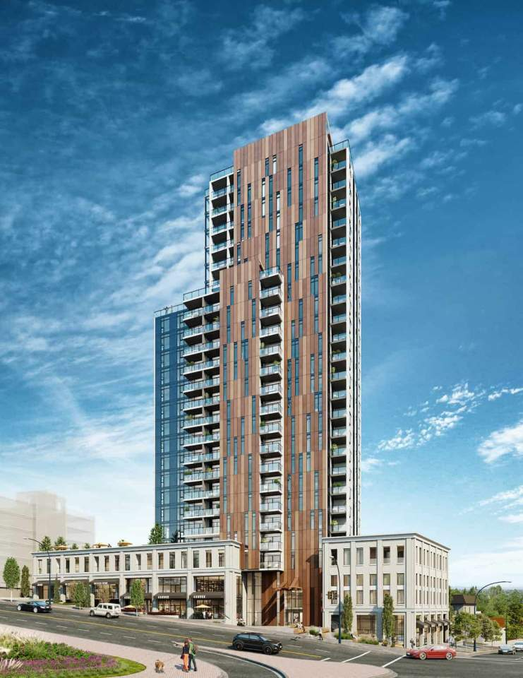 Rendering of Loma high-rise in Coquitlam