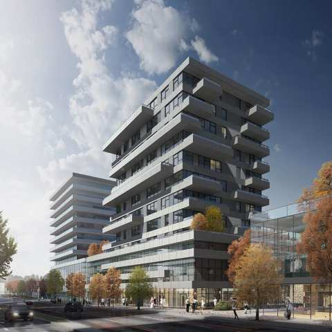 Rendering Of New 11-storey High-rise On 8655 Granville St