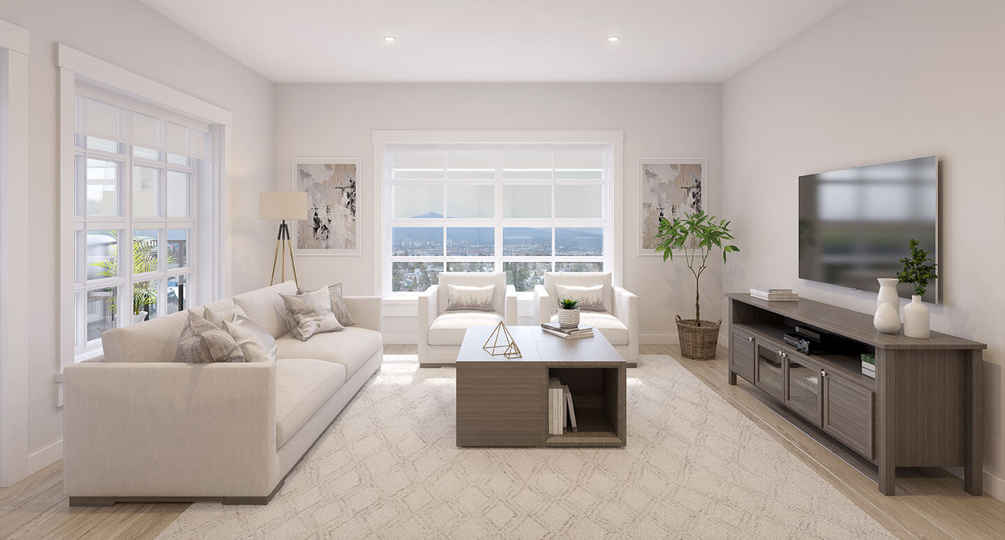 Rendering Of Brickwater Living Room In Maple Ridge
