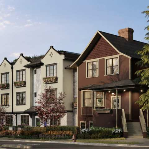Cypress & Second Townhomes Rendering On Vancouver's West Side