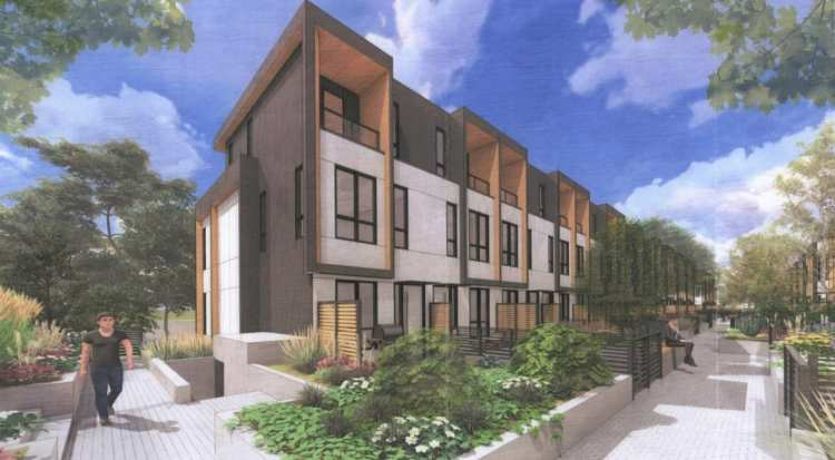 Design of Ducklow Townhomes in Coquitlam