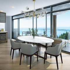 Rendering of Fantom dining room views