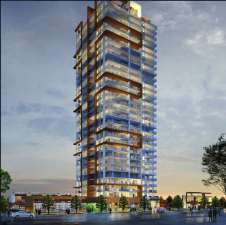 Rendering of M Residence & Spa building in Metrotown