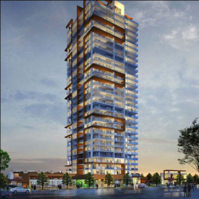 Rendering Of M Residence & Spa Building In Metrotown