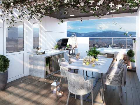 Rendering Of Riverside Deck In Penticton
