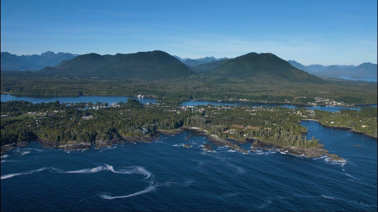Aerial View Of Ucluelet