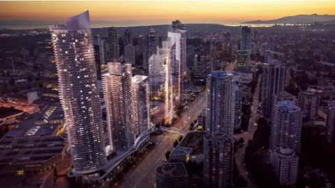 Rendering Of Concord Metrotown Towers