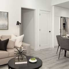 Rendering of Latimer Village Condos living area