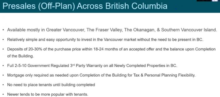 Presales (Off-Plan) Across British Columbia