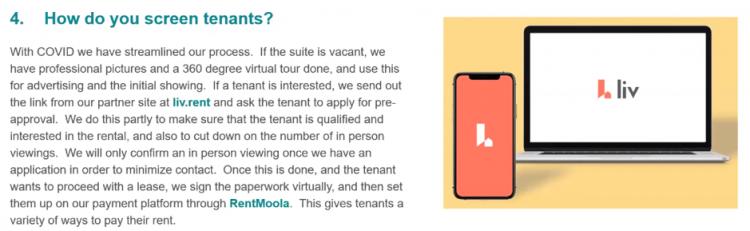 How do you screen tenants