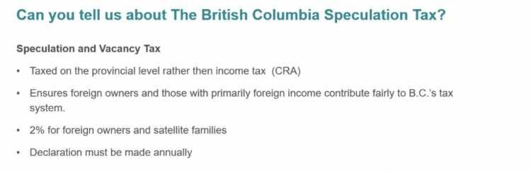 British Columbia Speculation Tax
