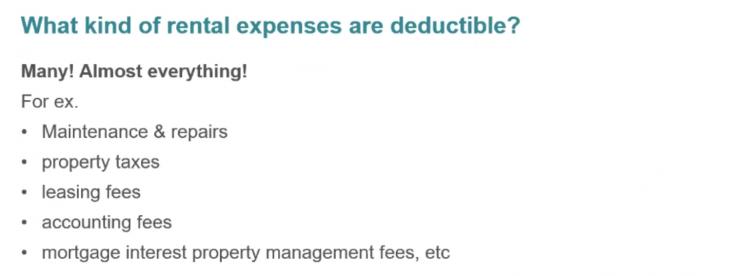deductible rental expenses