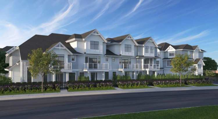 rendering of evergreen townhomes