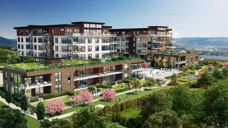 Rendering of Lakeview Village Residences In West Kelowna