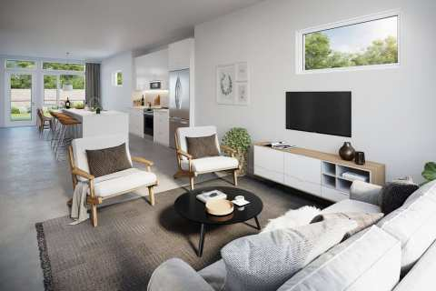 Rendering Of Norwell Drive Living Area In Nanaimo BC
