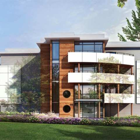 Rendering Od Odyssey 4-storey Building In South Surrey
