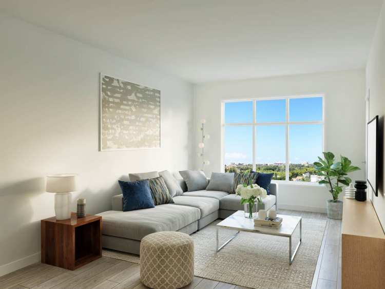 Rendering of Otto living area in Coquitlam