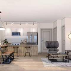 Rendering of Saavin living room