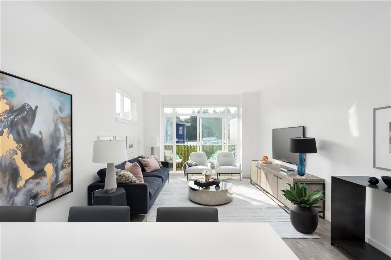 Rendering Of Smith And Norfolk Living Room Townhomes