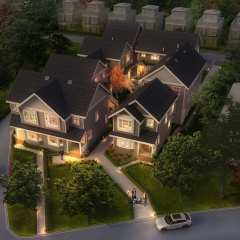 Rendering of Brock House Birdseye view
