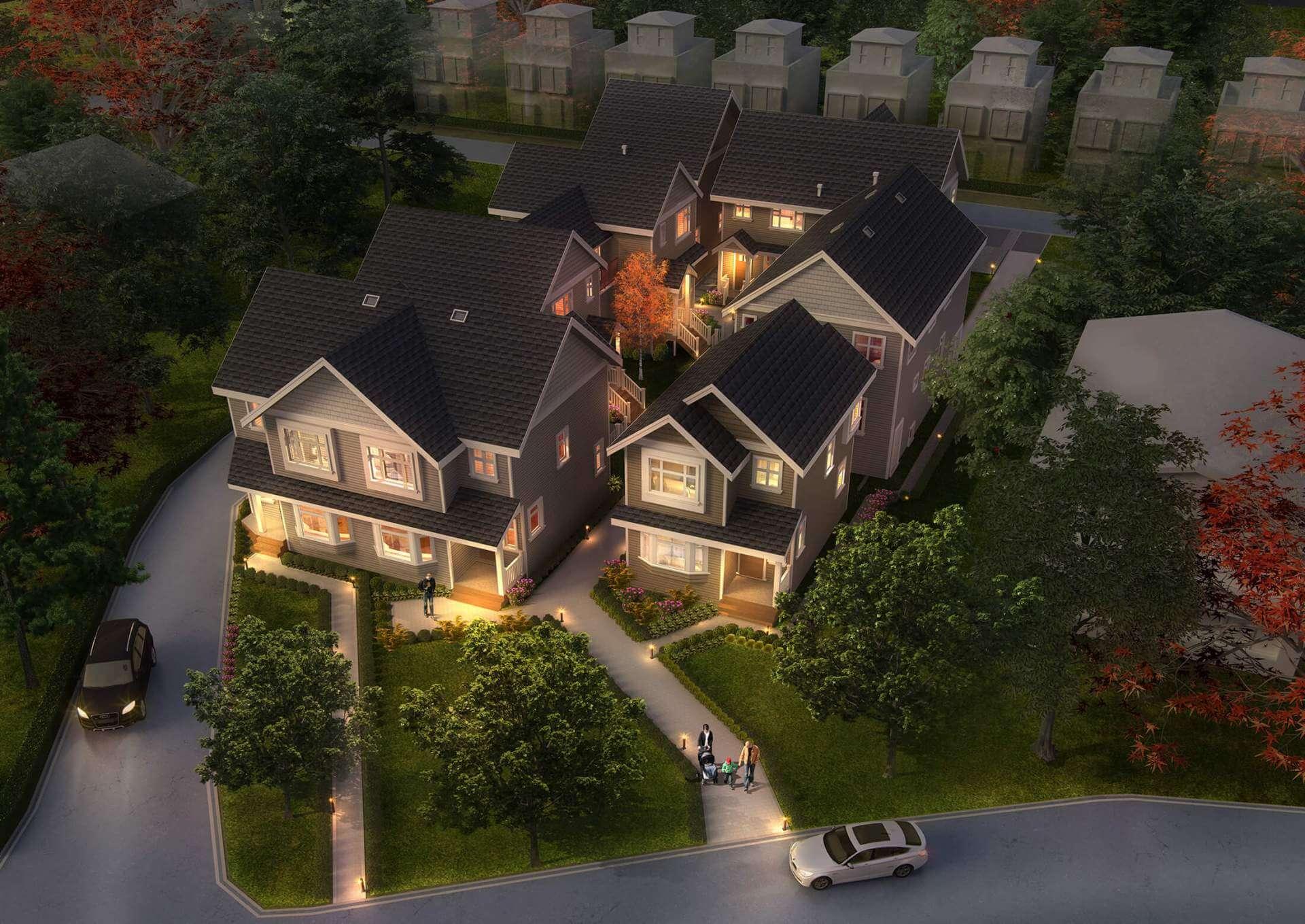 Rendering Of Brock House Birdseye View