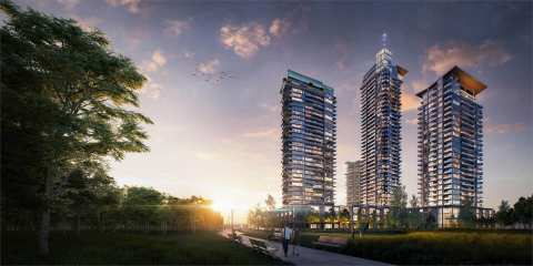 Rendering Of 4 Towers At Lumina Brentwood By Thind Properties