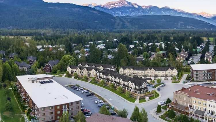 Rendering of Mountain Side townhomes aerial view