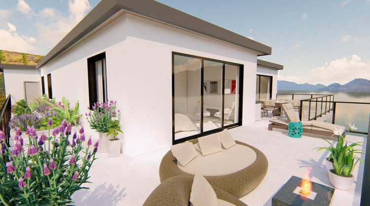 Rendering of Peachtree Village Penthouse Patio in the Okanagan
