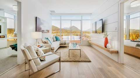 Rendering Of The Residences At Lynn Valley Living Room