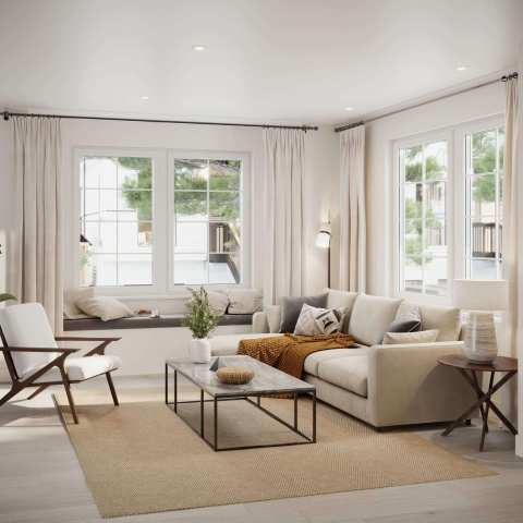 Rendering Of The Robinsons Living Room In West Coquitlam