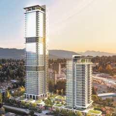 Rendering of 2 towers - Smith & Farrow in Burquitlam