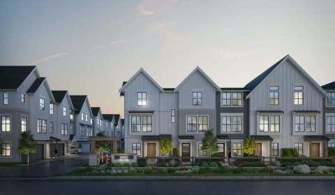 Rendering Of Homestead Townhomes In Langley