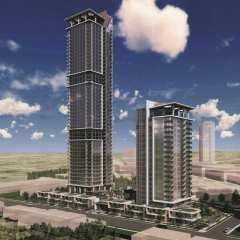 Rendering of 2 towers - Smith & Farrow in Burquitlam