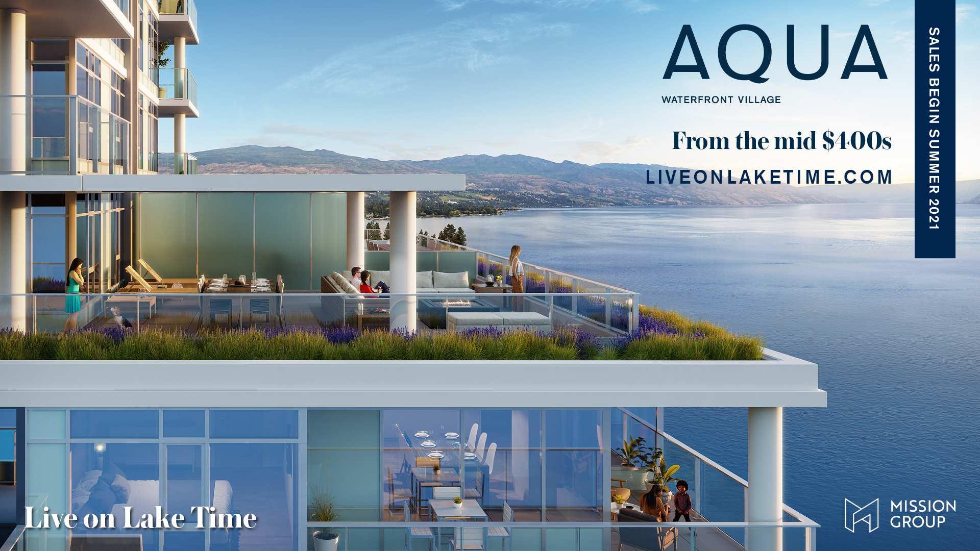 Rendering Of Aqua Waterfront Village Homes