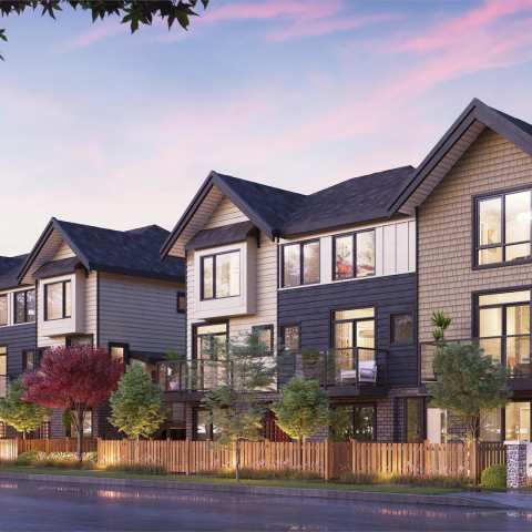 Rendering Of Parc Thompson Townhomes In Richmond BC