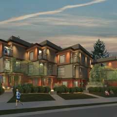 Rendering of Harmony On Eighth townhouses front view
