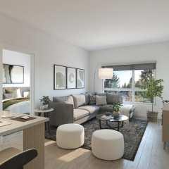 Rendering of Unison Living Room