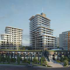 Rendering of Crescent Court towers