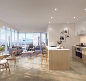 Rendering Of Belvedere Interiors & Living Area