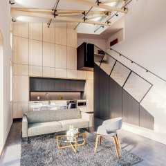 Rendering of DWG Interior Typical Walkup Unit